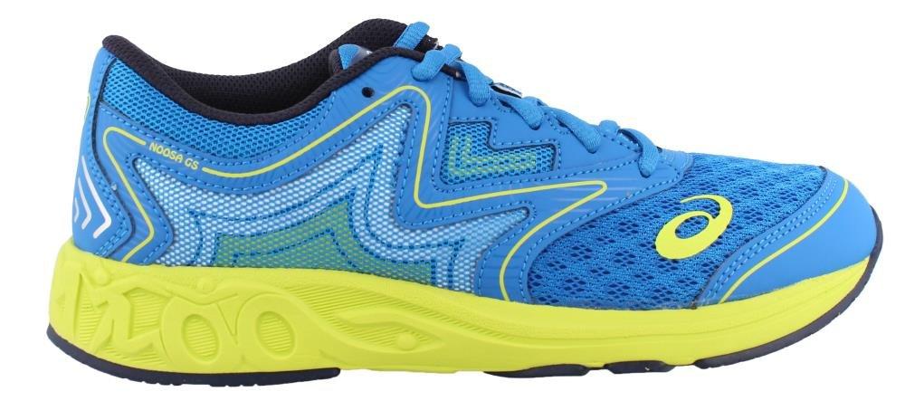 ASICS Unisex-Kids Noosa GS Running Shoe, Electric Blue/Green/Peacoat, 2.5 Medium US Big Kid