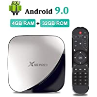 Sidiwen Android 9.0 TV Box X88 Pro Smart Box 4GB RAM 32GB ROM RK3318 Quad-Core CPU Ethernet 2.4G/5G Dual Band WiFi USB 3.0 Support 4K H.265 Video Player