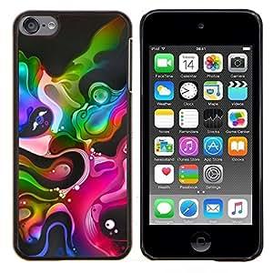 Carcasa rígida TaiTech/madera - colorido colores negros vibrantes burbujas Apple iPod Touch - 6 6th Touch6