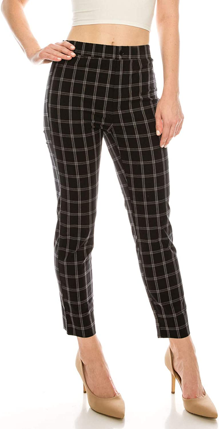 Over Kleshas Women's Soft Touch Plaid Woven Pants
