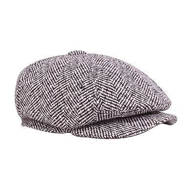 b729ea6ff8f Zedo Unisex Autumn Winter Berets for Men Leisure Beret Hat Cap ...