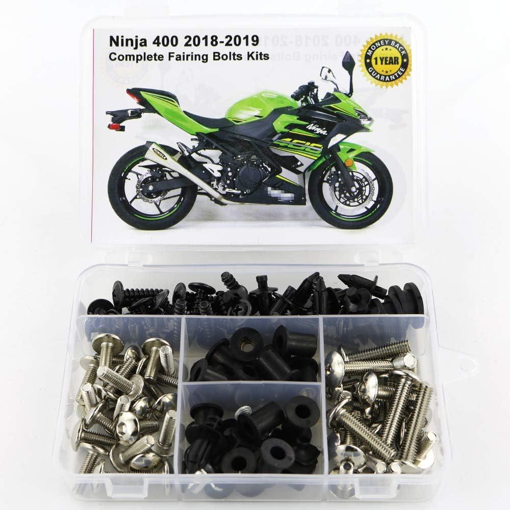 Titanium Mounting Kits Washers//Nuts//Fastenings//Clips//Grommets for Kawasaki ninja 400 2018 2019 Xitomer Full Sets Fairing Bolts Kits