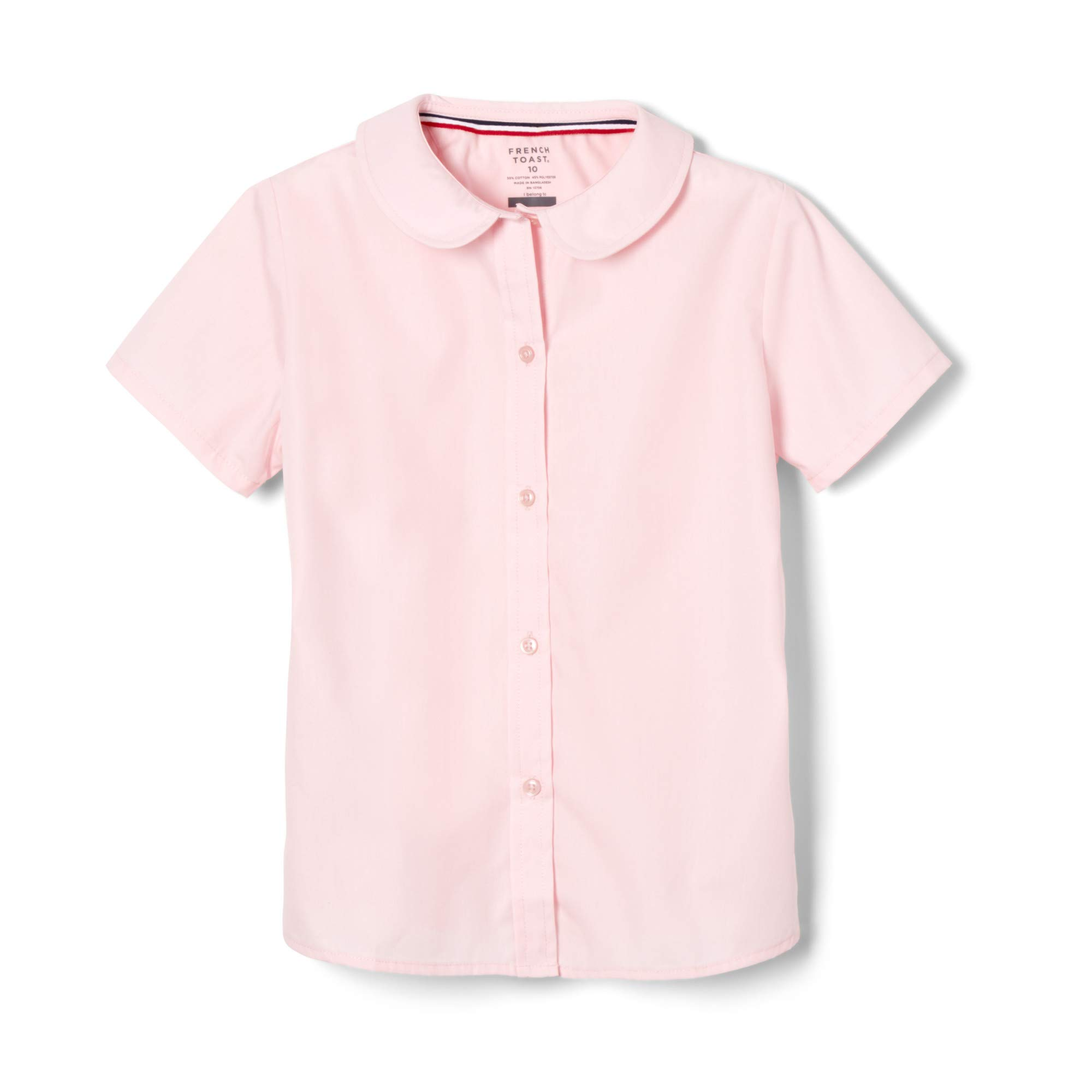 French Toast Toddler Girls Short Sleeve Modern Peter Pan Collar Blouse, Pink, 4T by French Toast