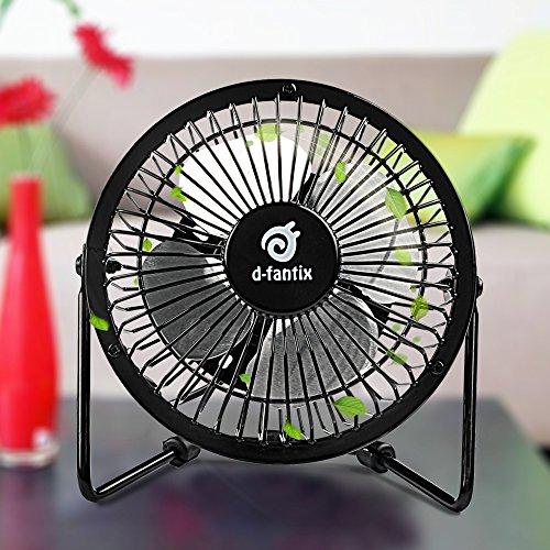 4 Inch Desk Fan : D fantix mini usb desk fan quiet inch antique metal