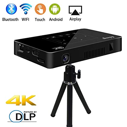 d0e8cddfeb687f Mini Pico Projector, Salange DLP HD Video Projector Wireless WiFi Pocket  Projector for Home Theater