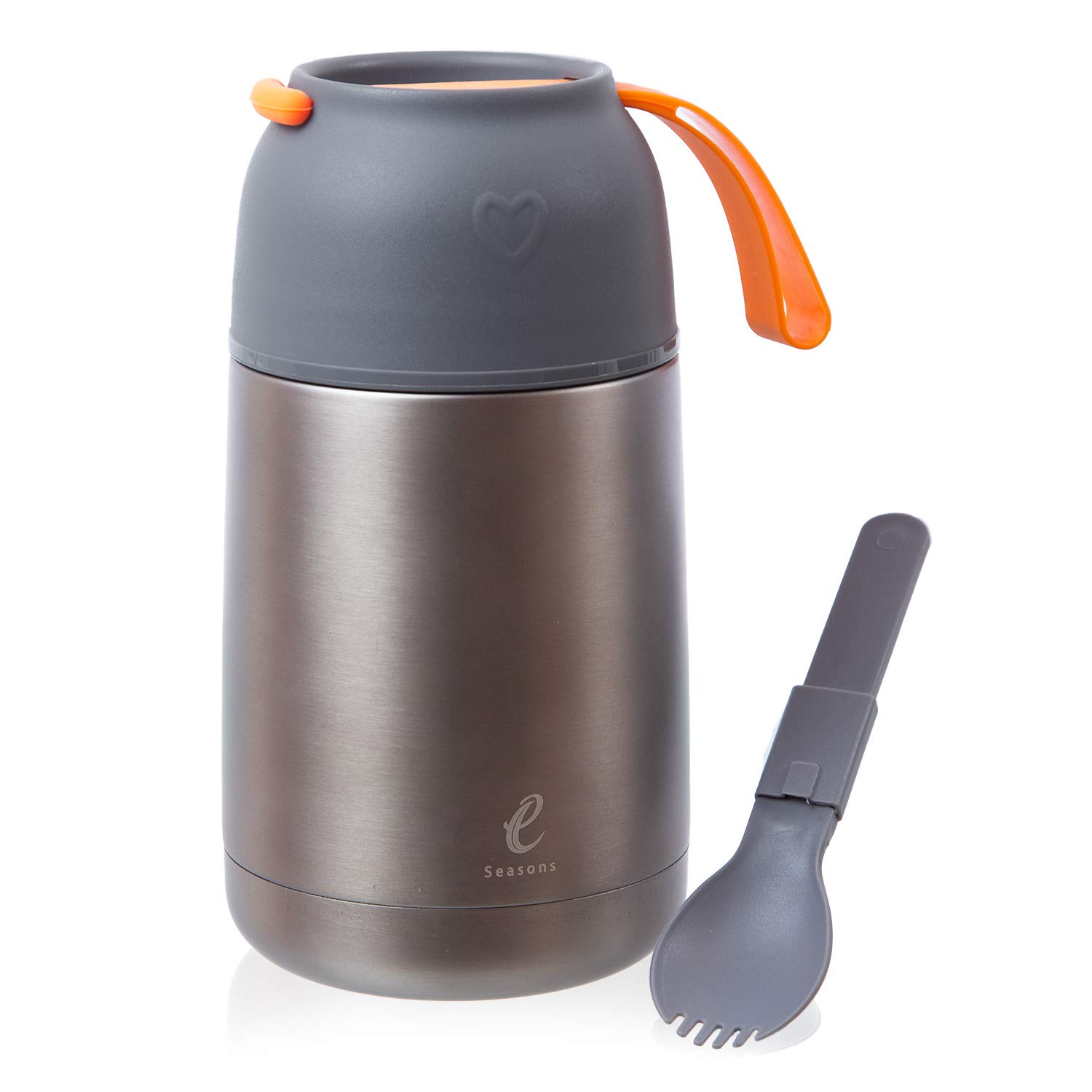 eSeasons Vacuum Insulated Stainless Steel Food Flask for hot Food at Office, Baby & Kids 430ml