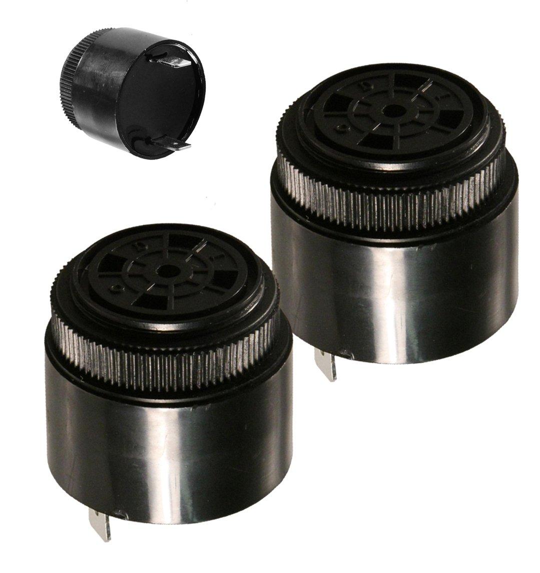 (2 Pieces) MULTICOMP MCKPI-G3721-120V-3992 PIEZO Buzzer Diameter: 36mm External Height: 32mm