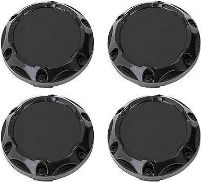 X AUTOHAUX 4pcs Silver Tone 68mm Dia 4 Clips Wheel Tyre Center Hub Caps Cover