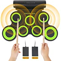 Electronic Drum Set,Educational Early Development Toys for Kids,Boys,Girls,Toddlers,Portable Roll Up 7 Practice Pad,Electric Drum Kit with Sticks and Pedals,Creative Birthday Gift Ideas