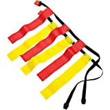 Sportime 1478715 Flag Football Belts, Large, Red/Yellow (Pack of 12)
