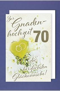 70 Hochzeitstag Geschenk Blumentopf ø16cm Jahrestag