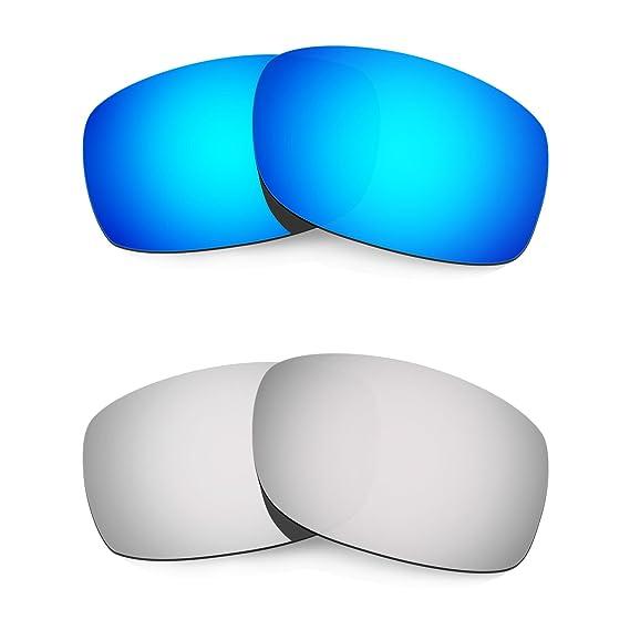 HKUCO Mens Replacement Lenses For Oakley Fives 3.0 Blue/Titanium Sunglasses CizHsB