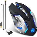 Rechargeable 2.4Ghz Wireless Gaming Mouse with USB Receiver