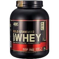 Optimum Nutrition ON 欧普特蒙 黄金标准100% 乳清蛋白粉 双重巧克力口味 5磅/瓶 2250g 补充蛋白提高免疫 美国品牌 包税
