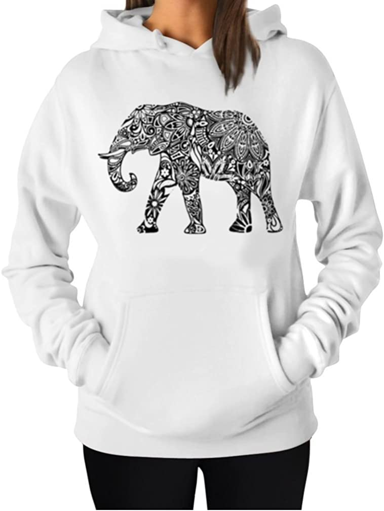 TeeStars Love Elephants Be Kind to Elephants Animal Lover Women Sweatshirt