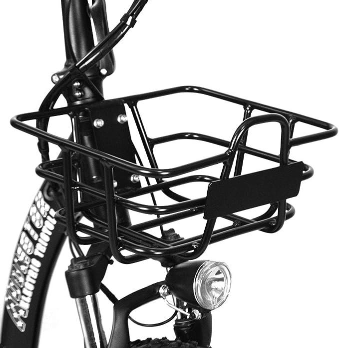 Addmotor - Cesta Delantera de Metal para Bicicleta eléctrica (tamaño pequeño): Amazon.es: Deportes y aire libre
