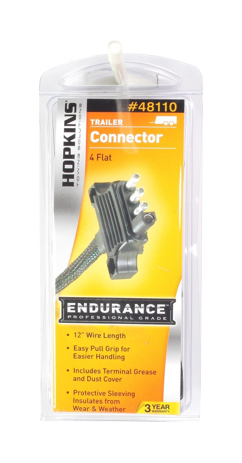 Hopkins 48110 Endurance 12 Long 4 Wire Flat Trailer Wiring A Plug Side Connector Automotive
