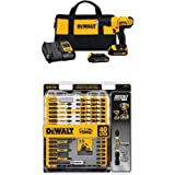 Dewalt DCD771C2 20V MAX Cordless Lithium-Ion 1/2 inch Compact Drill Driver Kit with IMPACT READY FlexTorq Screw Driving Set,