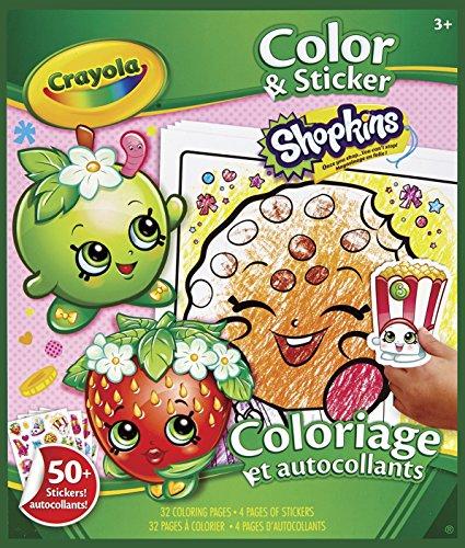 Crayola Shopkins Color and Sticker Book ()
