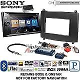 Volunteer Audio Sony XAV-W651BTN Double Din Radio Stereo Install Kit with Bluetooth, Pandora, iPhone Control, USB, AUX, Navigation Fits 2003-2007 Cadillac CTS, 2004-2006 SRX
