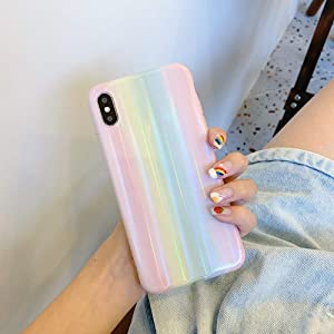 Cocomii Holographic Rainbow iPhone 6S Plus/6 Plus Case, Slim Thin Glossy Soft Flexible TPU Silicone Rubber Gel Shiny Gradient Reflection Fashion Bumper Cover for Apple iPhone 6S Plus/6 Plus (Rainbow)