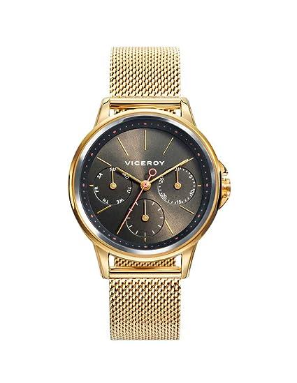Viceroy 461102-97 - Reloj para Mujer Multifunción, Acero IP Dorado