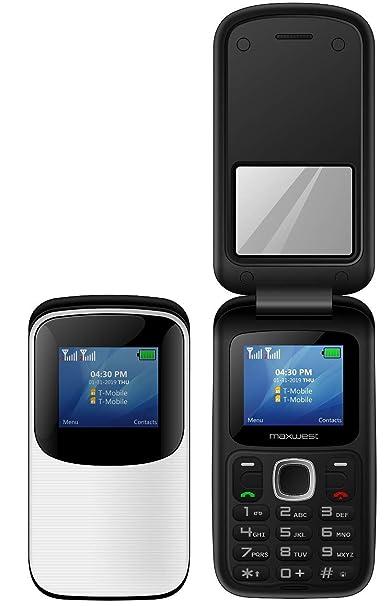 Amazon com: MAXWEST UNO Clam 3G FLIP Phone Unlocked (White): Cell