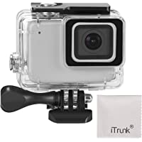 iTrunk Waterproof Housing Case Compatible for GoPro Hero 7 Silver White 45m Underwater Protective Diving Case Shell with Bracket Accessories Compatible for GoPro Hero 7 Silver White Action Camera