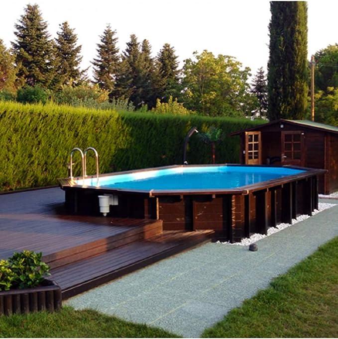 Piscina italiana exterior de madera Jardin 727: Amazon.es: Jardín