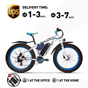 RICH BIT. Bicicleta eléctrica 1000W RT022 E-Bike 48V * 17Ah Li ...