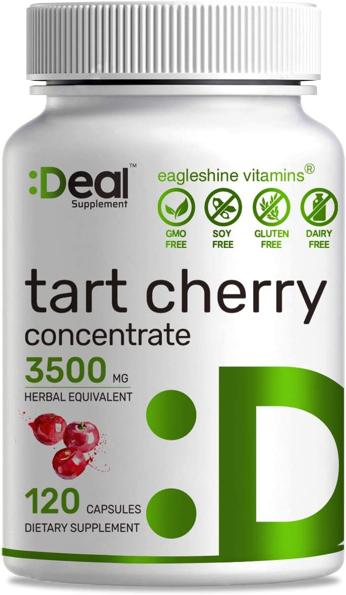 Deal Supplement Tart Cherry Concentrate, 3500mg Herbal Equivalent, 120 Capsules, Non-GMO, Made in USA (120 Caps)