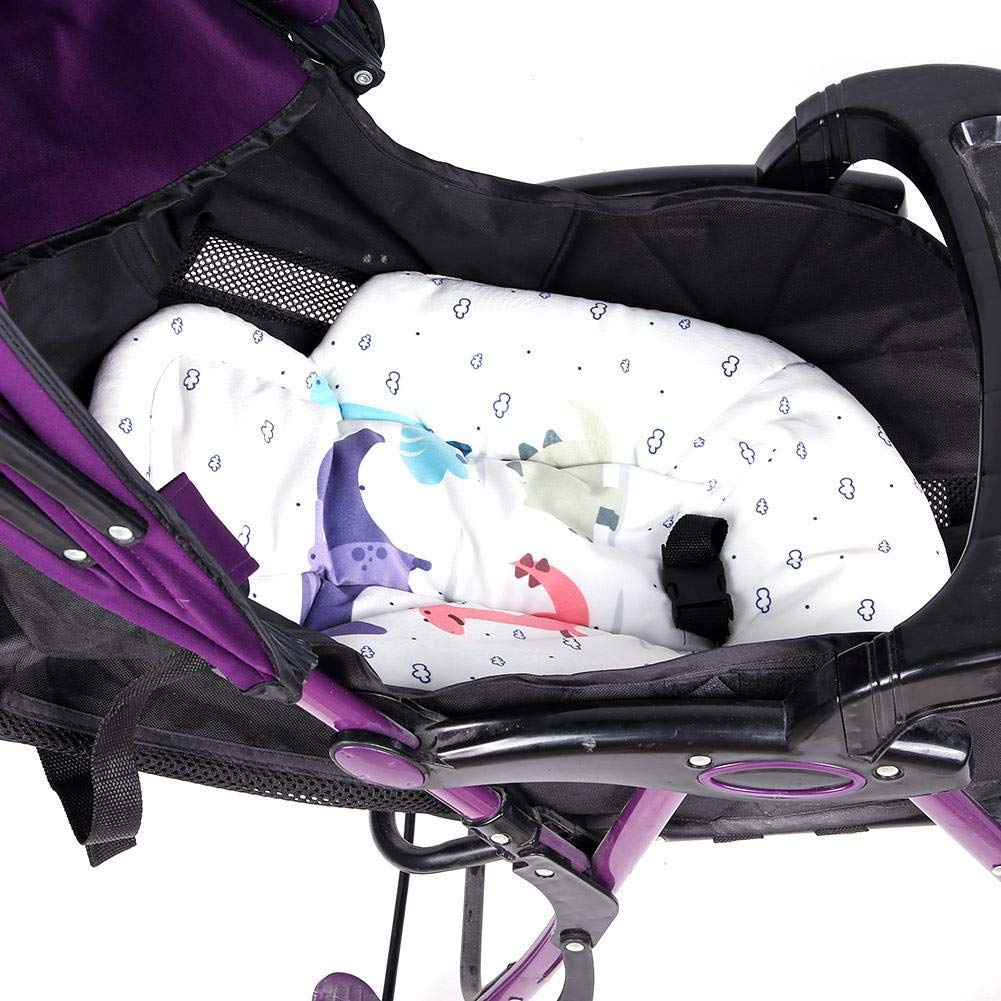 Yabtf Newborn Baby Insert Reversible Baby Insert Support Infant Insert for Stroller Machine Washable for 0-6 Months White