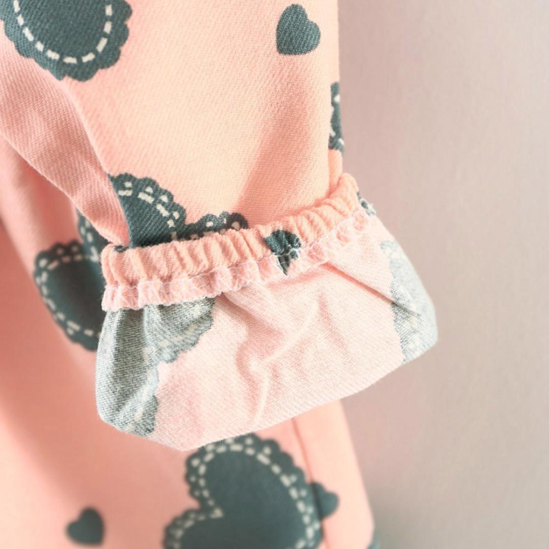 B/ären Tasche Kinder Langarm Mode Kleidung,0-24Monate Amlaiworld Baby M/ädchen Niedlich Herz Druck Kleider