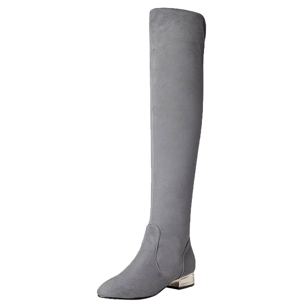 JYshoes , Femme Bottes Classiques Femme , B077BVV5YZ Gris c8783d5 - fast-weightloss-diet.space