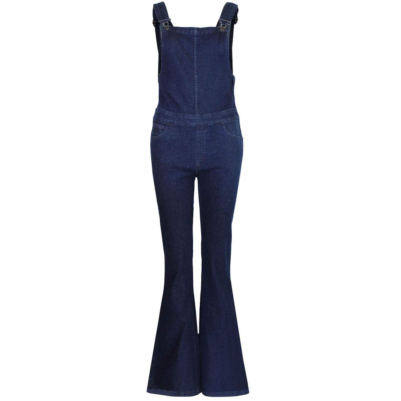 70s Jumpsuit | Disco Jumpsuits, Sequin Rompers Madcap England Womens Bellbottom Blues Flared Denim Dungaree Flares £39.99 AT vintagedancer.com