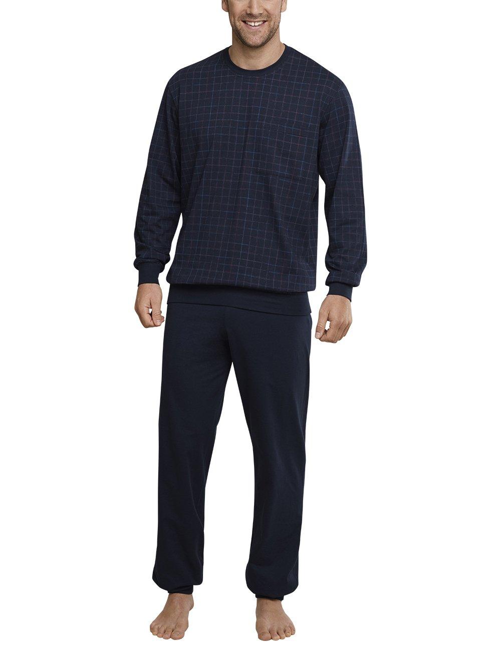 Anzug Lang, Conjuntos de Pijama para Hombre, Azul (Dunkelblau 803), Small (Talla del Fabricante: 048) Schiesser