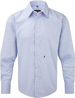 Camicia JE922M con Iniziale Ricamata E Men's Long Sleeve Tailored Oxford Shirt - Tutte Le Taglie by tshirteria t-shirteria
