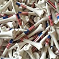 "100 3 1/4"" Pride Evolution American Flag USA Golf Tees White Wholesale from Pride"