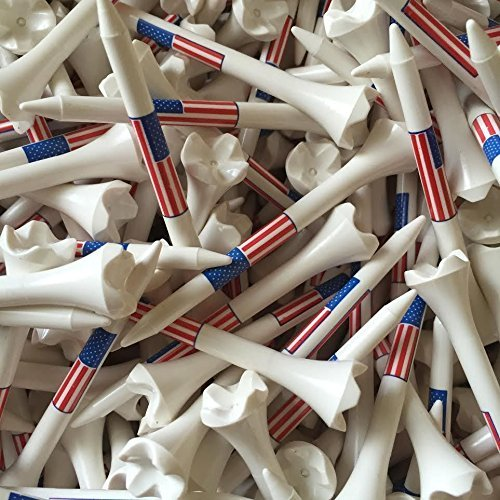 100 3 1/4'' Pride Evolution American Flag USA Golf Tees White Wholesale by Santa Superstore