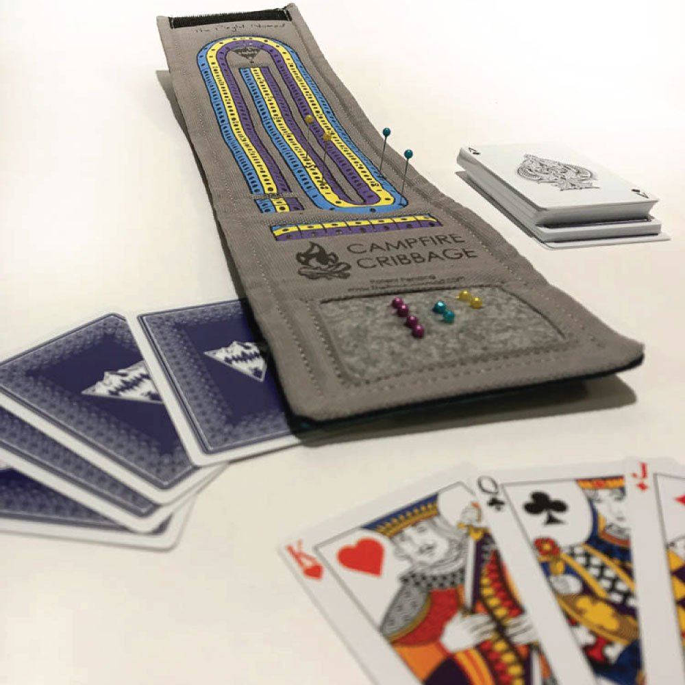 Campfire Cribbage – This unique Playful Nomad board game wraps around a deck of cards making the ultimate travel accessory. Get yours now for family fun on all your adventures! by The Playful Nomad (Image #2)