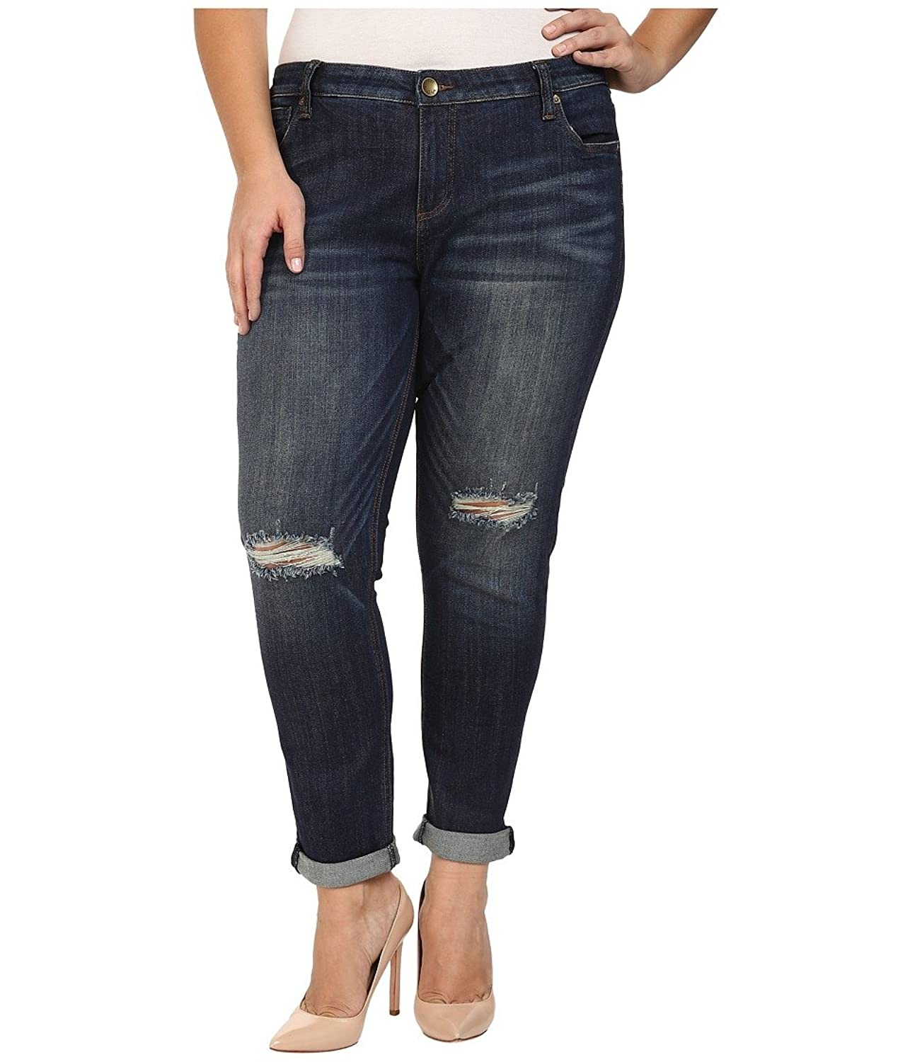 KUT from the Kloth Women's Plus Size Catherine Slouchy Boyfriend Jeans in Commitment Commitment Jeans 22W