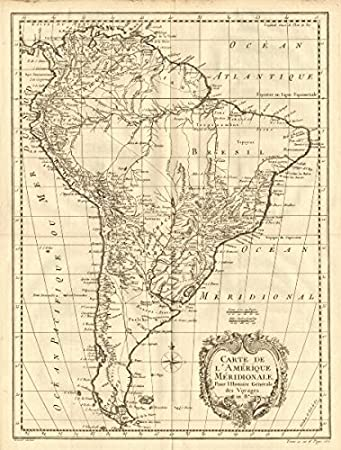 Amerique Meridionale\'. South America. Spanish New World Empire ...