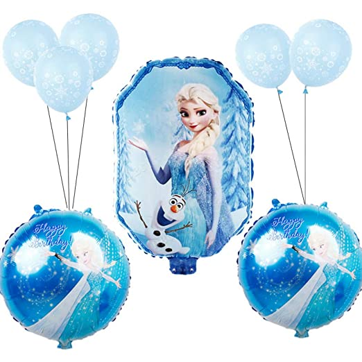 LIUUWO Balloon 9 unids/Set Baby Shower Girl Foil Globos ...