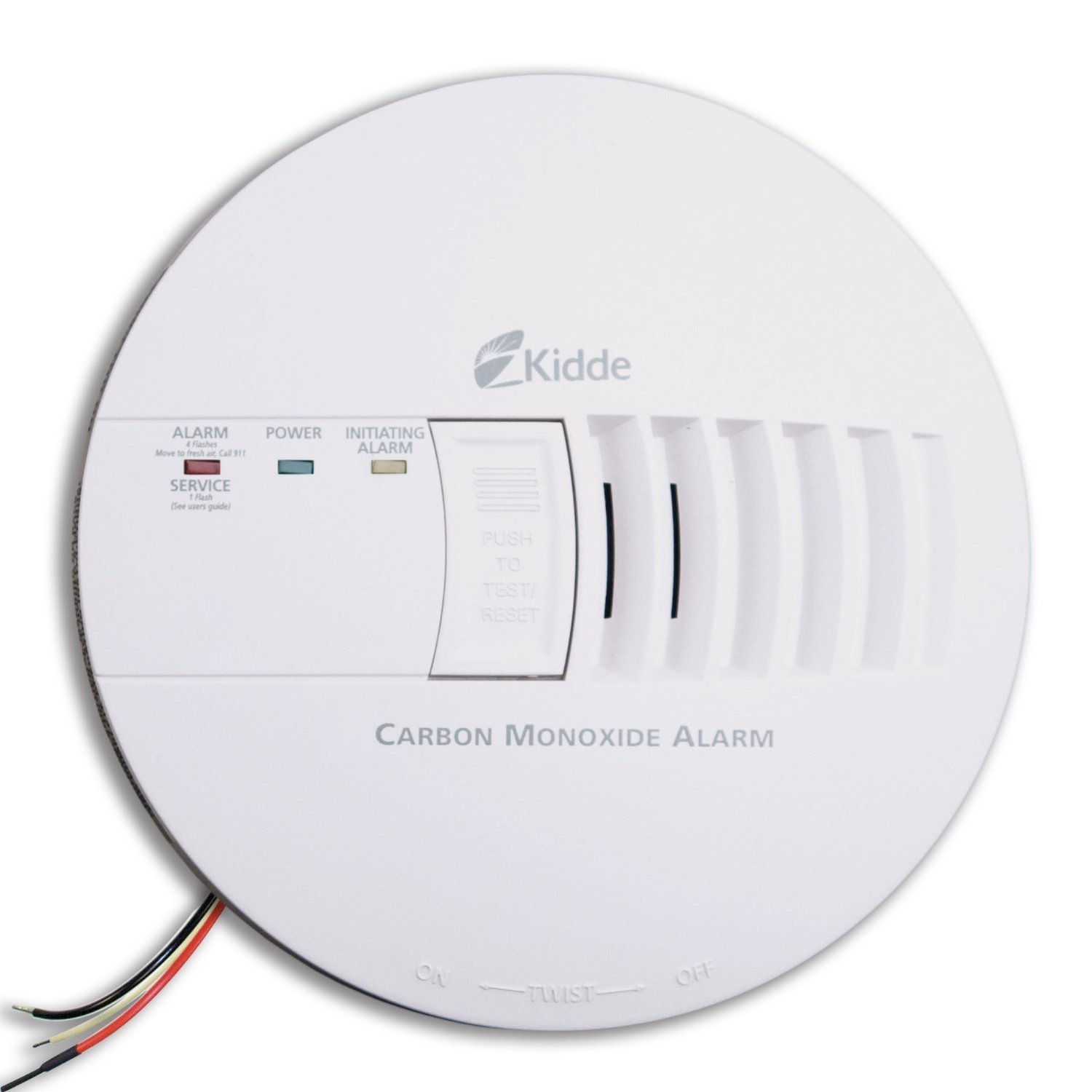 Kidde KN-COB-IC Hardwire Carbon Monoxide Alarm with Battery Backup, Interconnectable (4 Pack) by Kidde