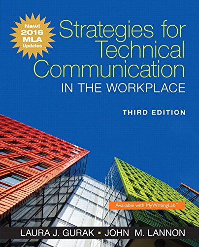 Strategies for Technical Communication in the Workplace, MLA Update Edition (3rd Edition) cover