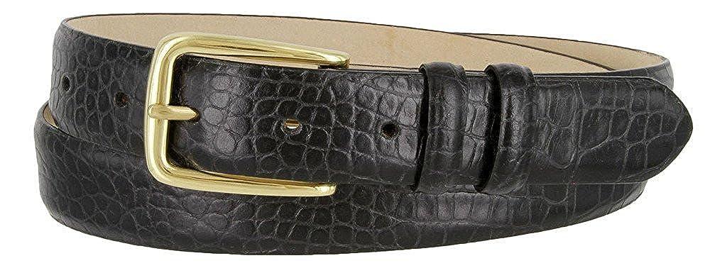 Hagora Men 30 mm Wide Genuine Italian Calfskin Brass Buckle Eclectic Belts