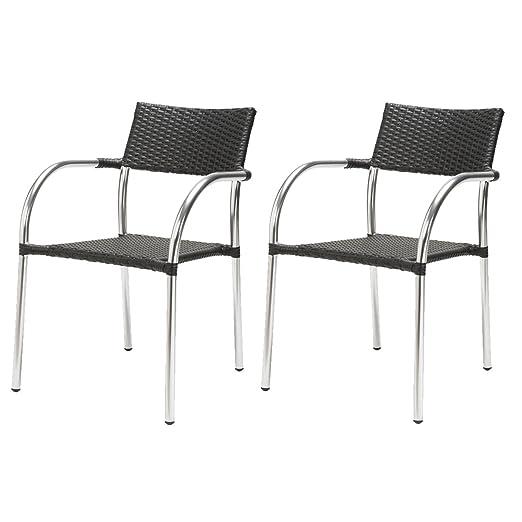 Lote de 2 sillones Remo - Resina: Amazon.es: Hogar