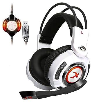 SamMoSon 2019 Gaming Inalambricos Auriculares con Microfono,Xiberia K3 Auriculares para Juegos con Auriculares para