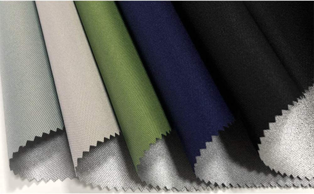 HEFUTE Flame Retardant Fabric 600D Elastic Wire Oxen Cloth Coated Silver Fireproof Waterproof Tent Fabric Decorative Cloth Folding Chair Cloth Luggage Cloth Green 1m
