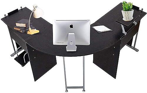 Dporticus 72 L-Shaped Office Desk Corner Computer Desk Laptop Study Table Workstation